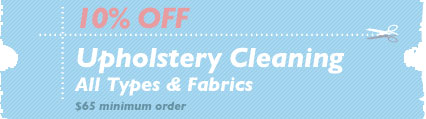 Cleaning Coupons | 10% off upholstery cleaning | Carpet Cleaning Bergen